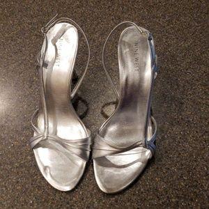 Nine West Silver 3in Heels
